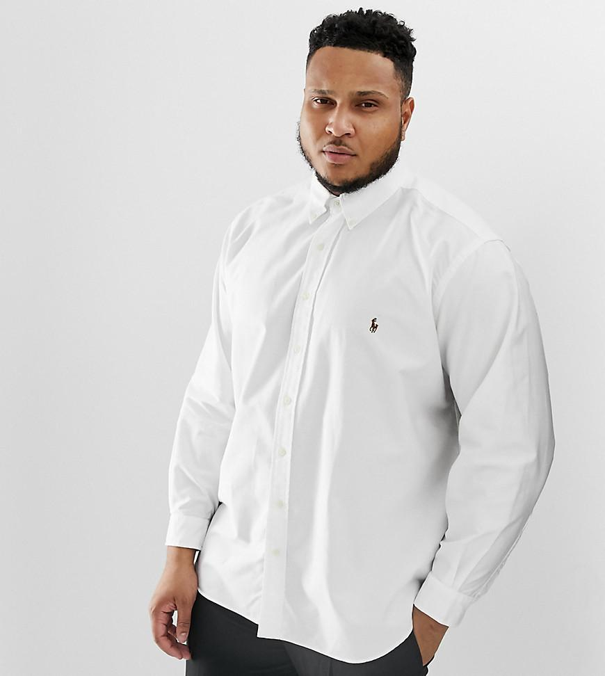 c7ce1b238 Polo Ralph Lauren Big   Tall Oxford Shirt With Button Down Collar In ...