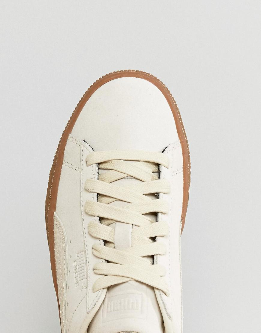 08520650eac Lyst - PUMA Suede Classic Trainers With Gum Sole In Beige in Natural