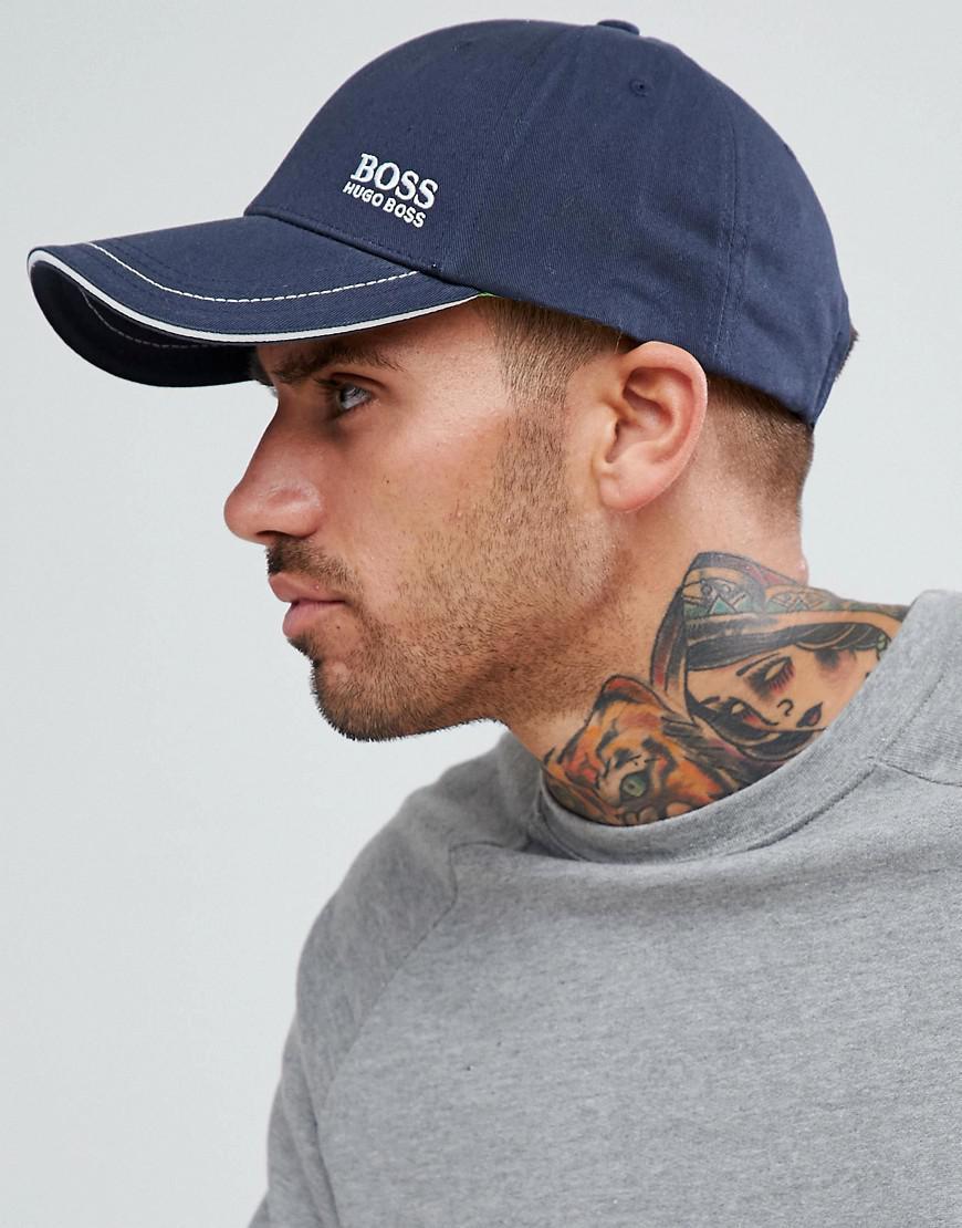 Lyst - Boss Small Logo Baseball Cap In Navy in Blue for Men cdf5847677ab
