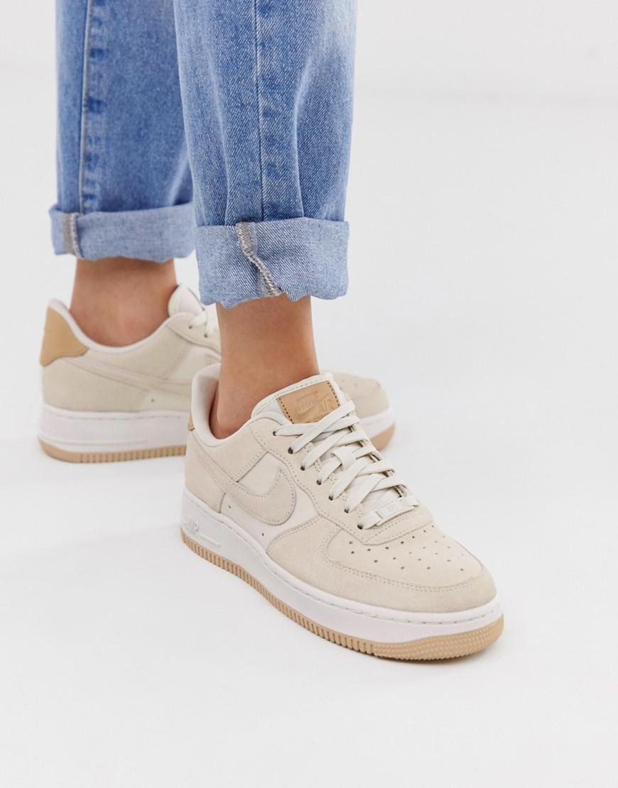 Nike Air Force 1'07 Sneakers In Off White Suede - Lyst