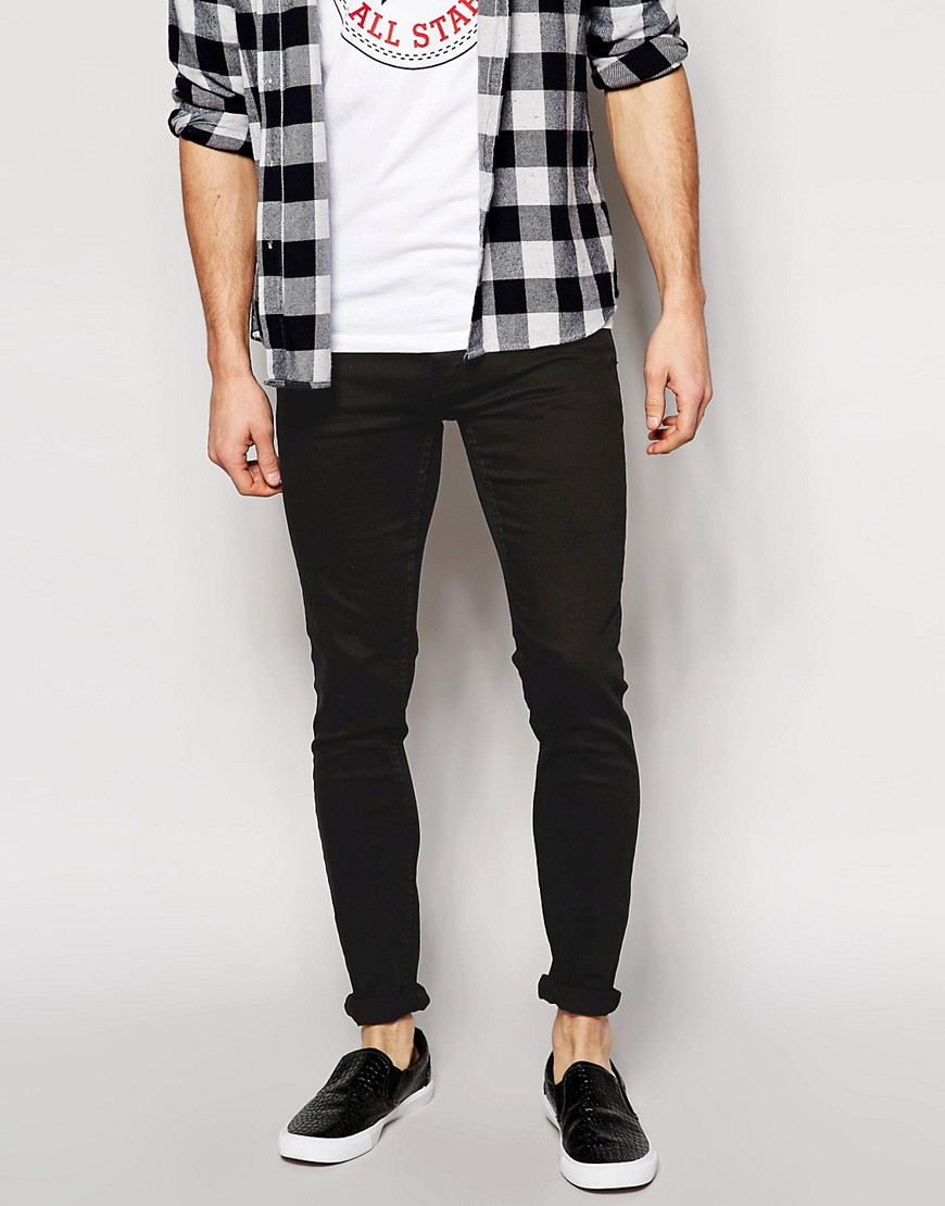 Cheap Monday Skinny Jeans In Narrow Fit In Black For Men