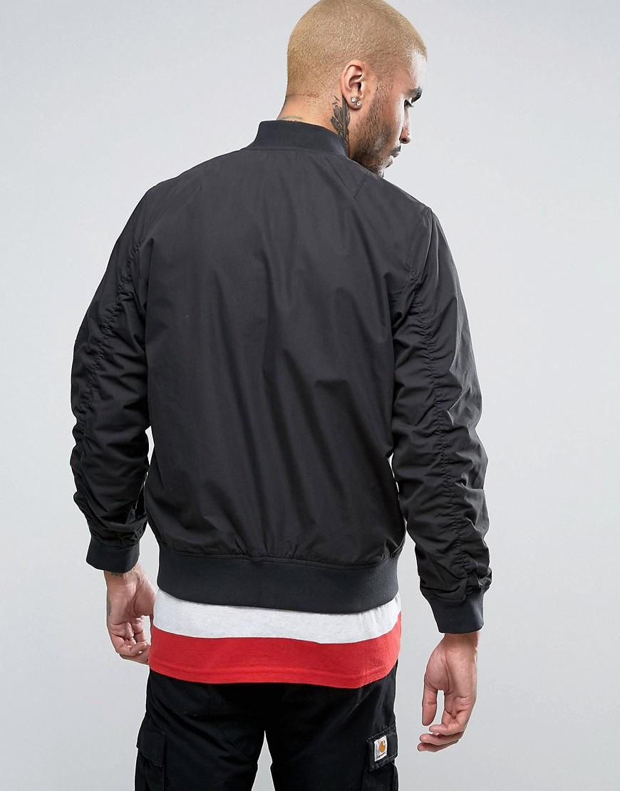 Carhartt WIP Cotton Adams Bomber Jacket in Black for Men
