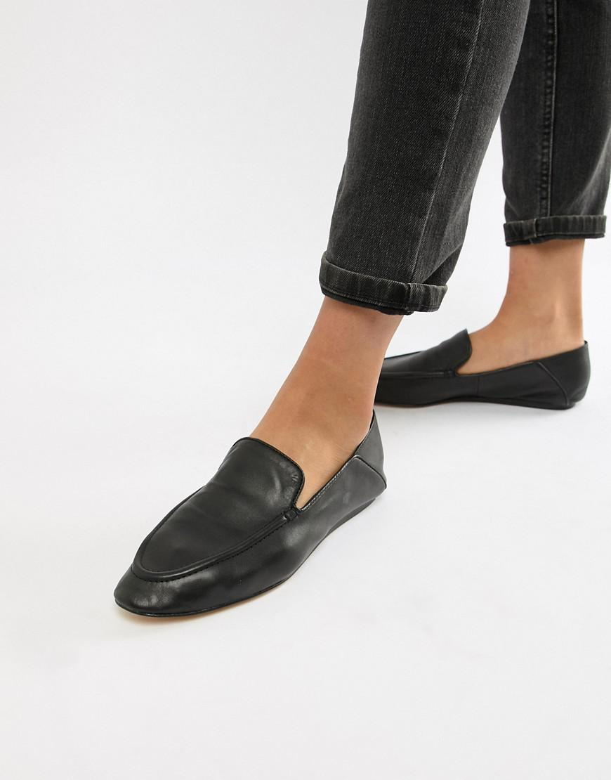 7d2b90fe5aa Mango Soft Leather Loafer in Black - Lyst