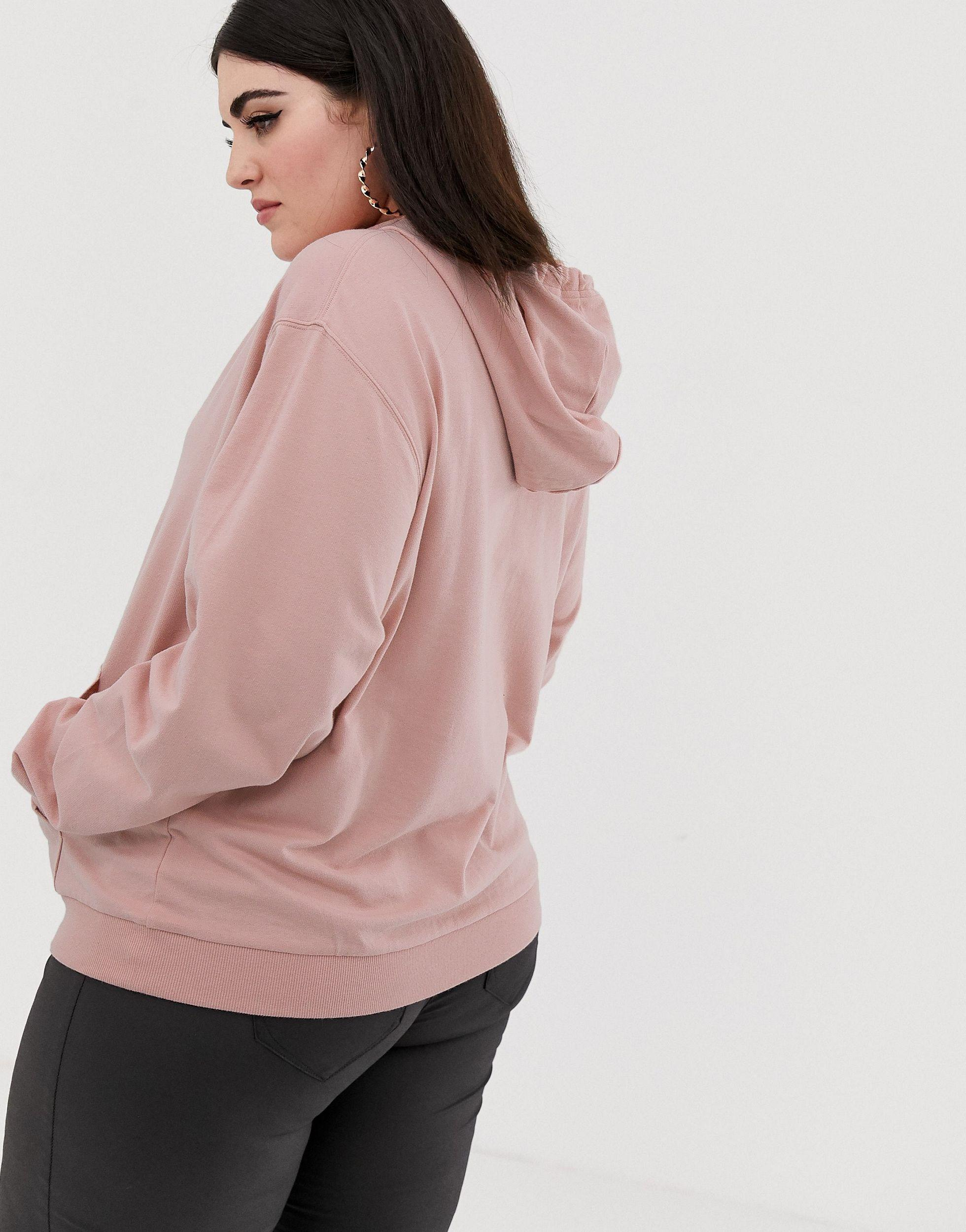 ASOS DESIGN Curve - Ultimate - Hoodie Jean ASOS en coloris Rose