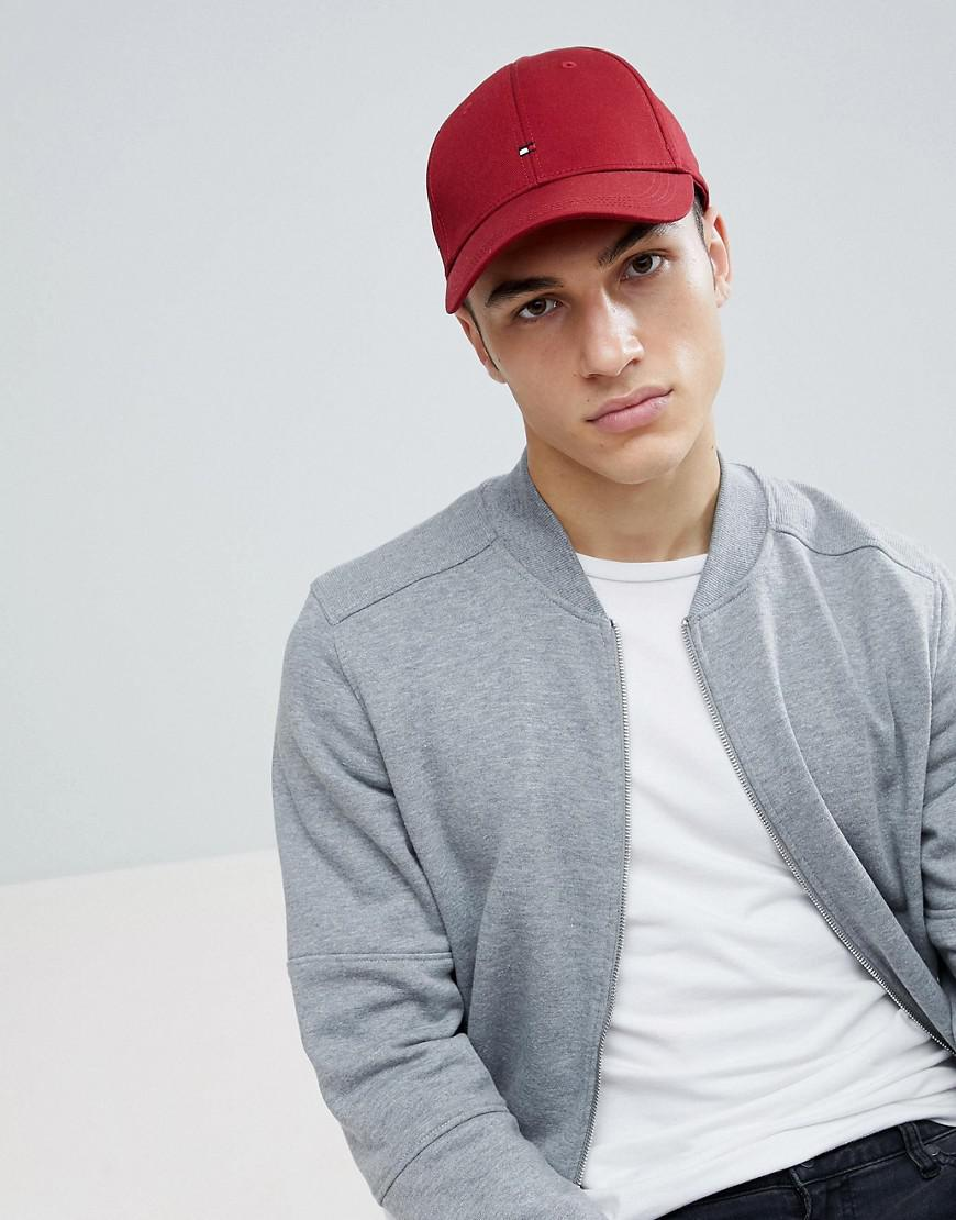 28a15ab5 Lyst - Tommy Hilfiger Classic Flag Baseball Cap Dark Red in Red for Men