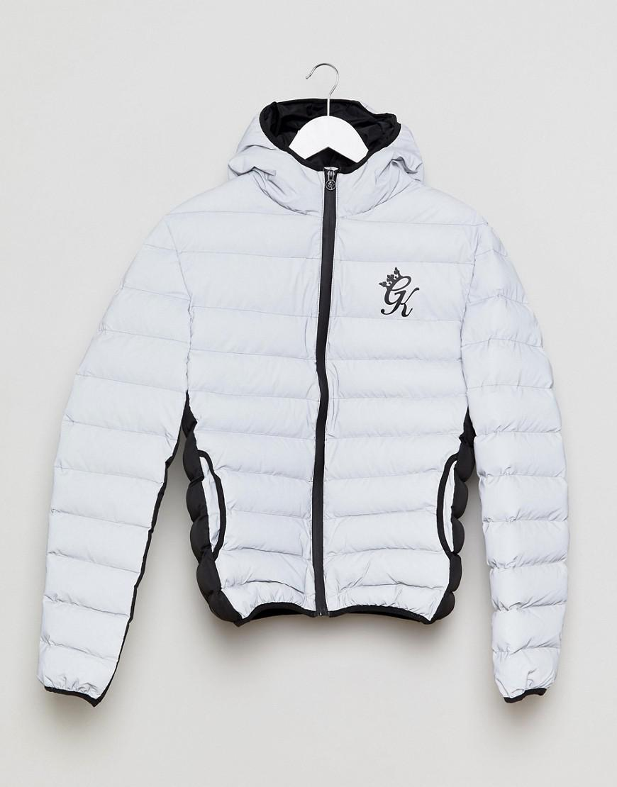 718011fc3 Gym King Gray Puffer Jacket In Reflective for men