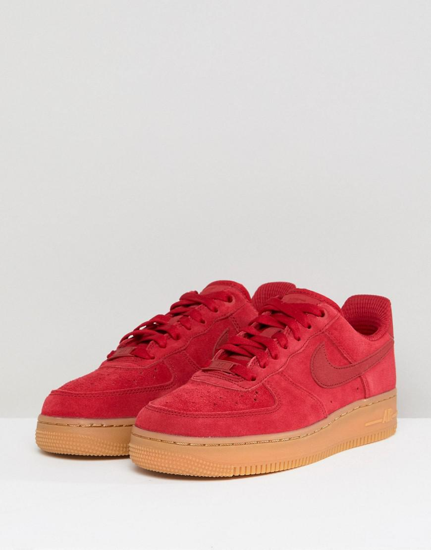 lowest price 3bcd2 81351 ... 1 suede lace up trainer gym red deep royal blue nike 3115b 2087d  best  price gallery. previously sold at asos womens nike air force 86532 e497a