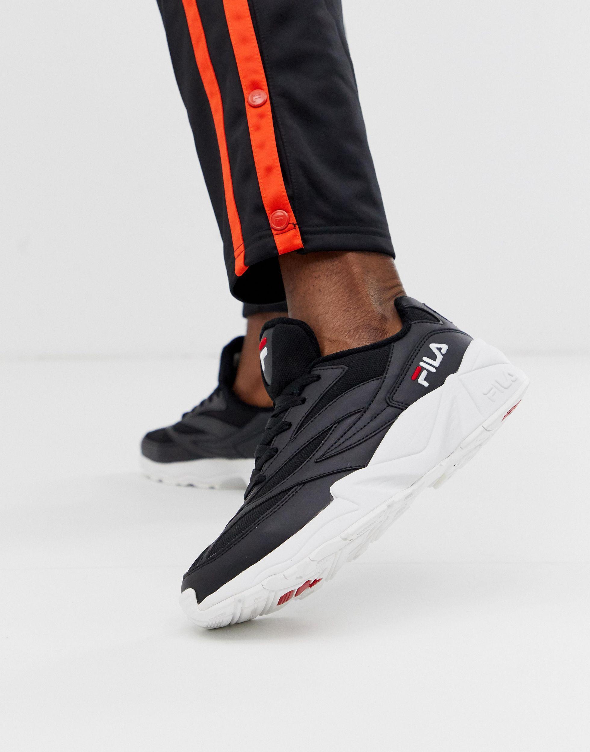 Fila Leather Venom Sneakers in Black