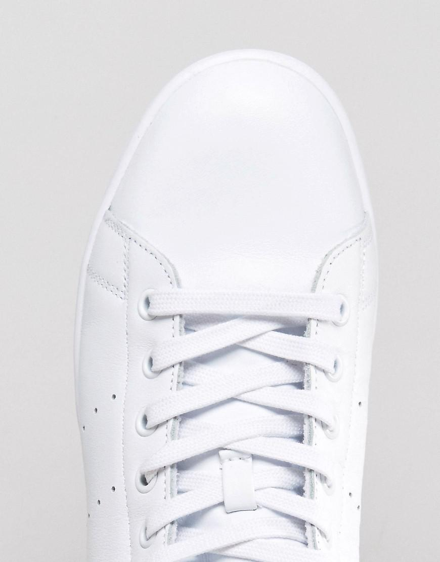 adidas Originals Leather Stan Smith Mid Sneakers In White Bb0069