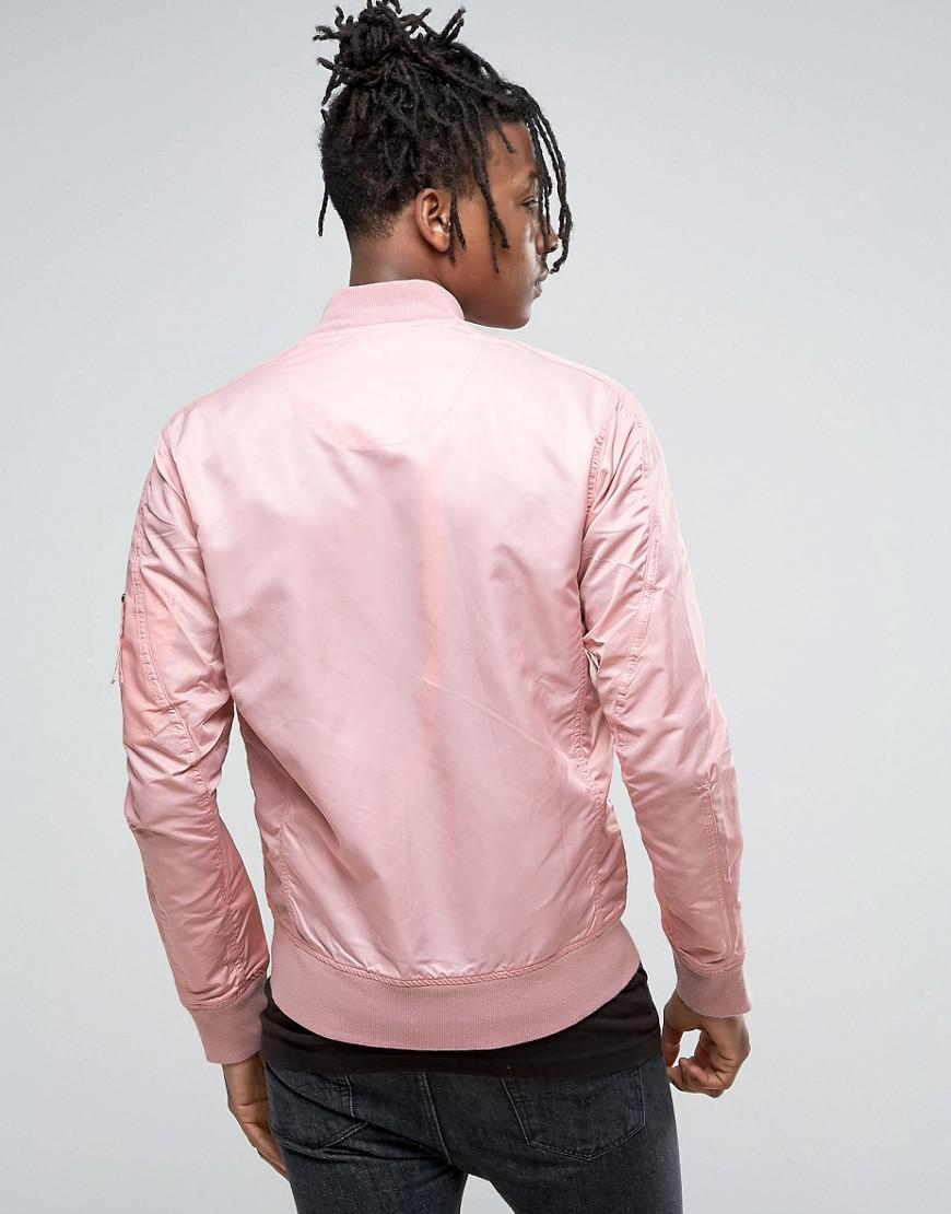 Maharishi Synthetic Ma1 Bomber Jacket In Pink for Men
