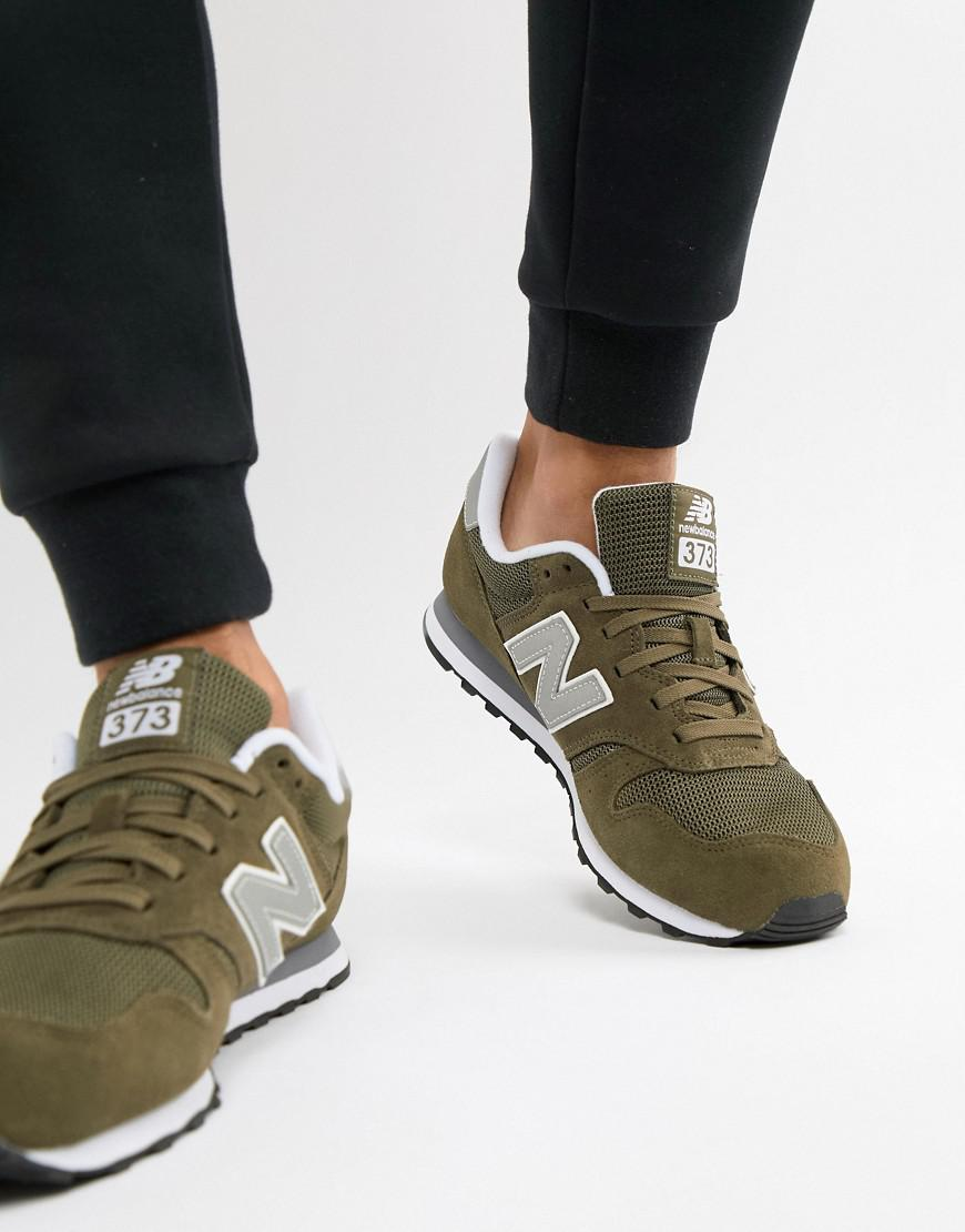 373 Trainers In Green Ml373olv