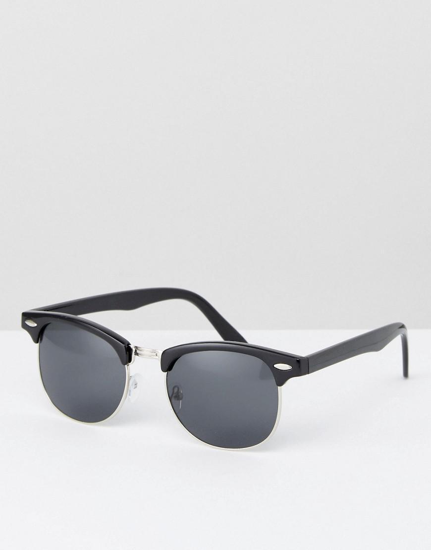 fe0ef7b6ad Lyst - ASOS Retro Sunglasses In Black in Black for Men
