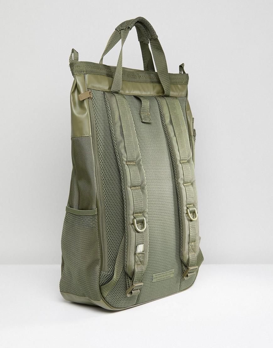0e93c6bf18e5 adidas Originals Bp Toploading Backpack In Black in Green for Men - Lyst