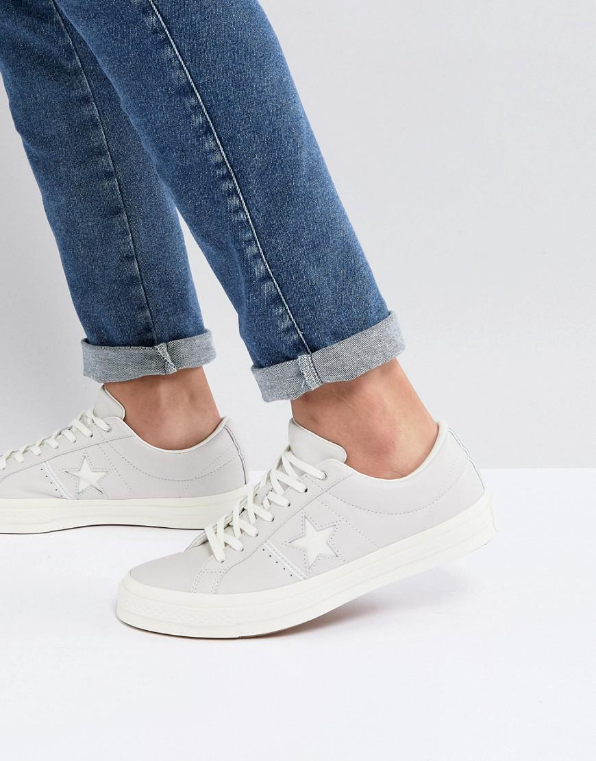 a36a55f9019e ... Converse One Star Ox Plimsolls In White 159773c in White for Men - Lyst  ...