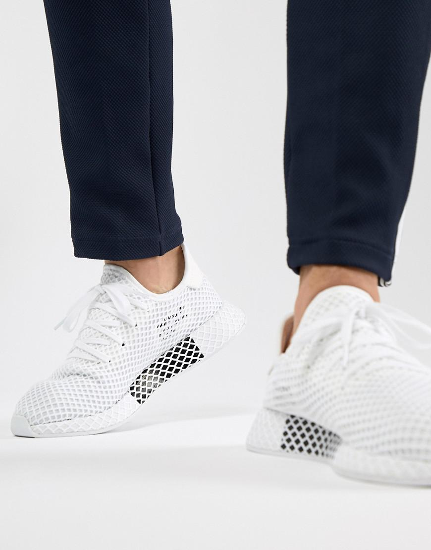 save off c0da6 2ddde adidas Originals. Mens Deerupt Runner Sneakers In White Cq2625