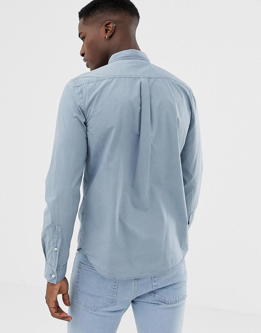 Superdry Denim Paperweight - Overhemd In Blauw in het Blauw voor heren