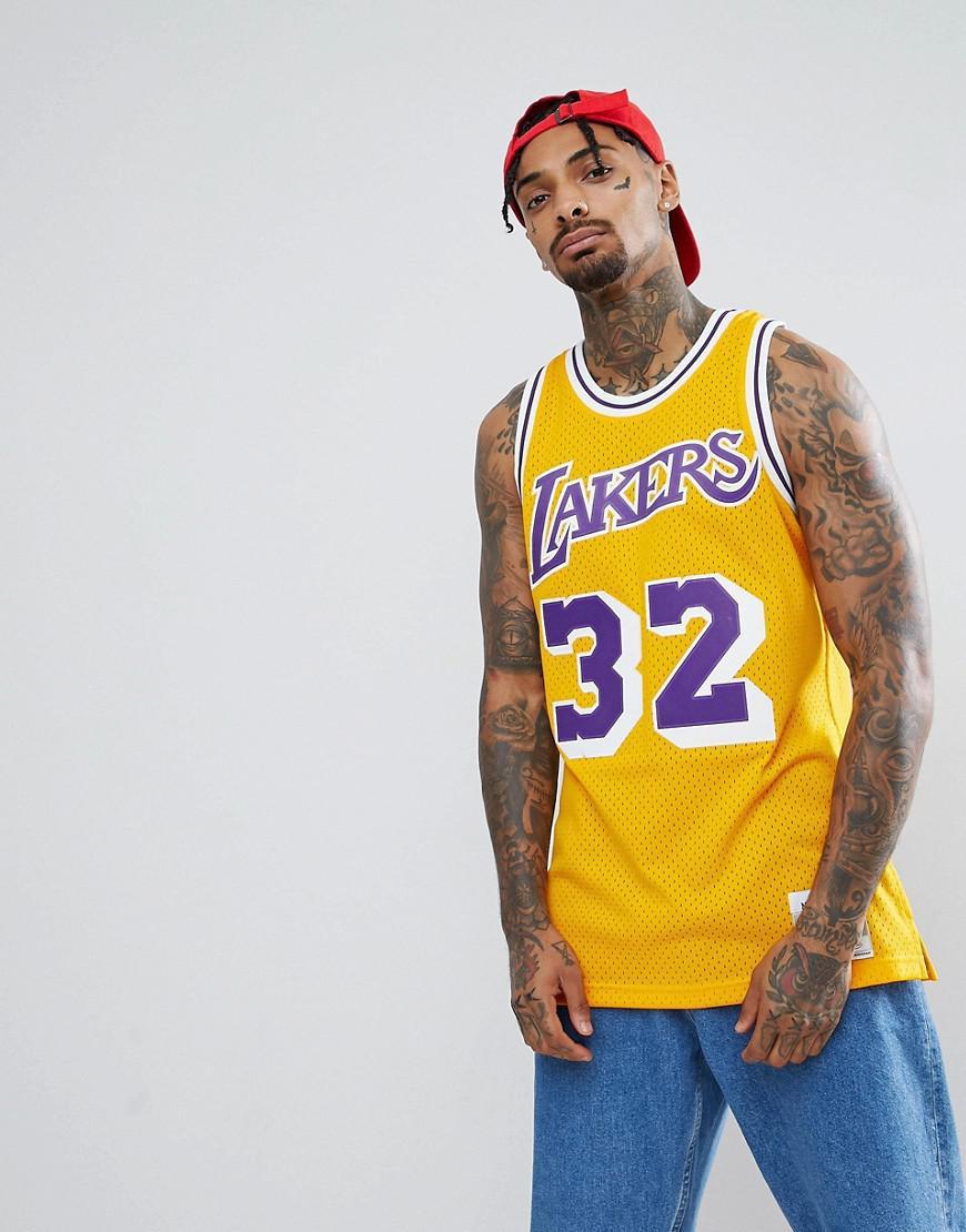 detailed look 4363f 2d99b Men's Nba Lakers Magic Johnson Swingman Tank In Yellow
