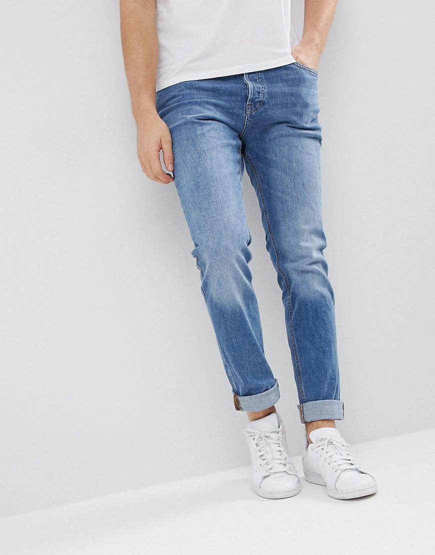 lyst jack jones intelligence jeans in slim fit organic. Black Bedroom Furniture Sets. Home Design Ideas