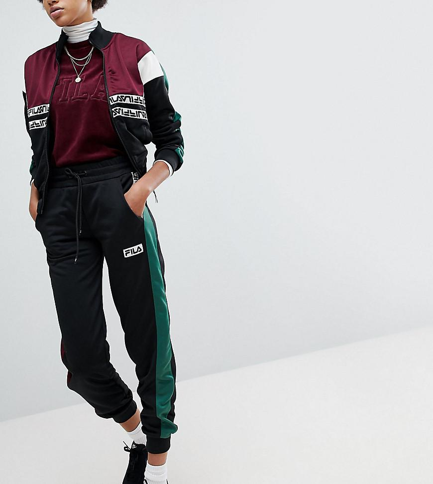 3de0ef7c2786 Lyst - Fila Tracksuit Bottoms With Contrast Side And Logo Taping in ...