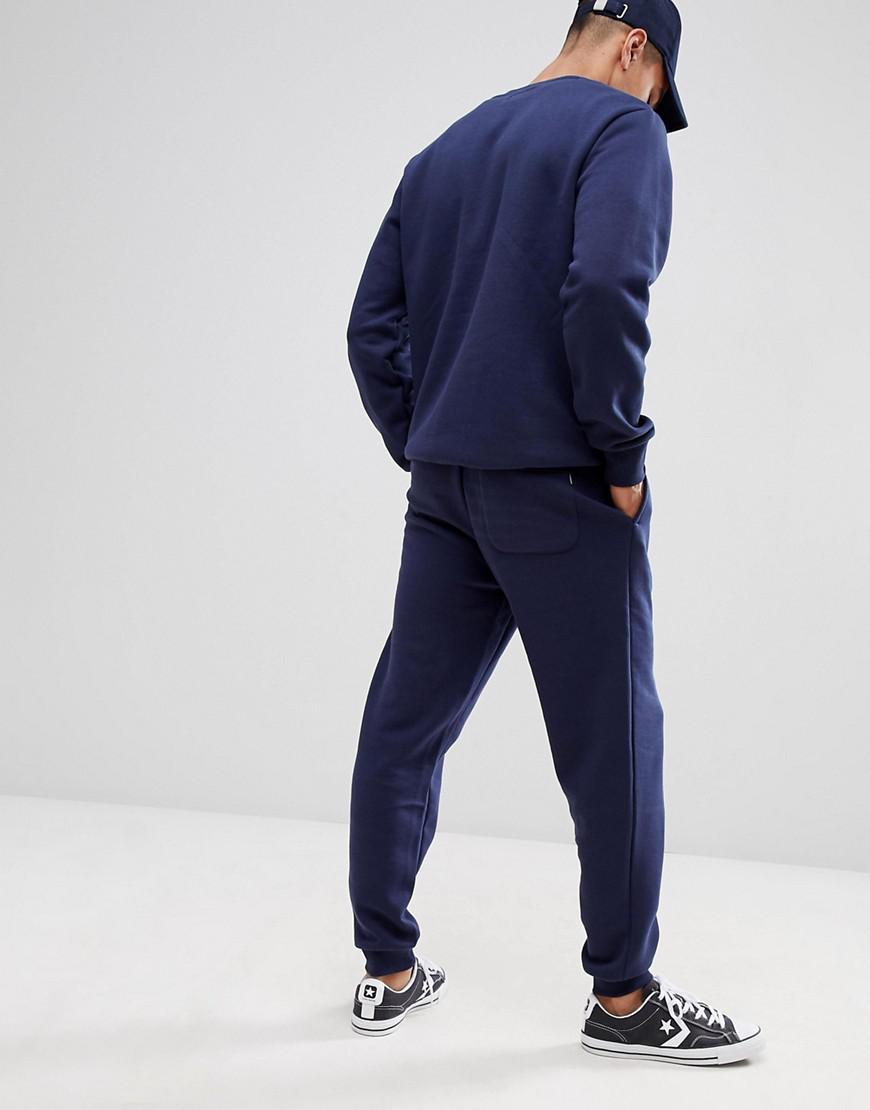 Pantalon de jogging - Bleu marine 10008815-A02 Toile Converse pour homme en coloris Bleu