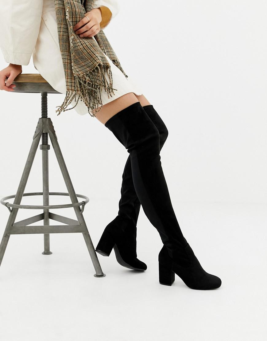 various design wholesale price 2018 sneakers Asos Design Petite Kadi Heeled Thigh High Boots