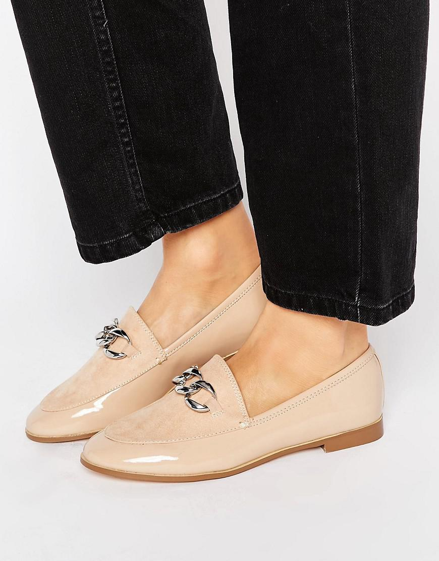 Lyst - River Island Nude Suede Western Strap Ankle Boots