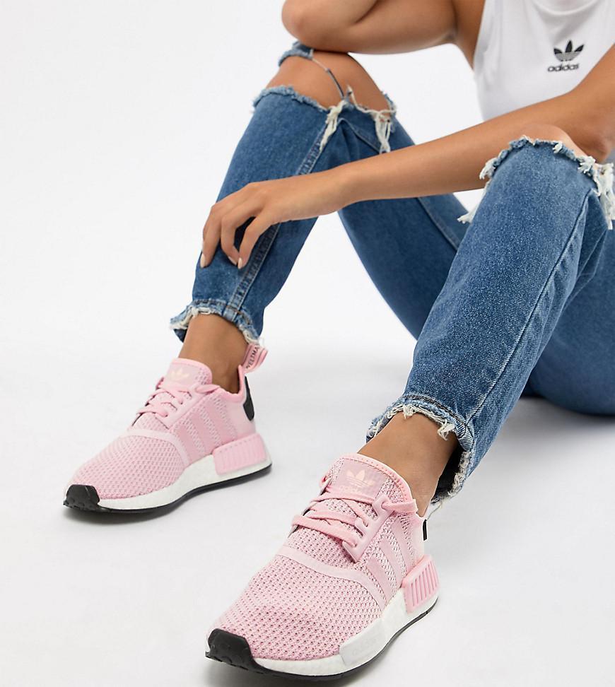 Adidas originali nmd r1 formatori in rosa in rosa lyst