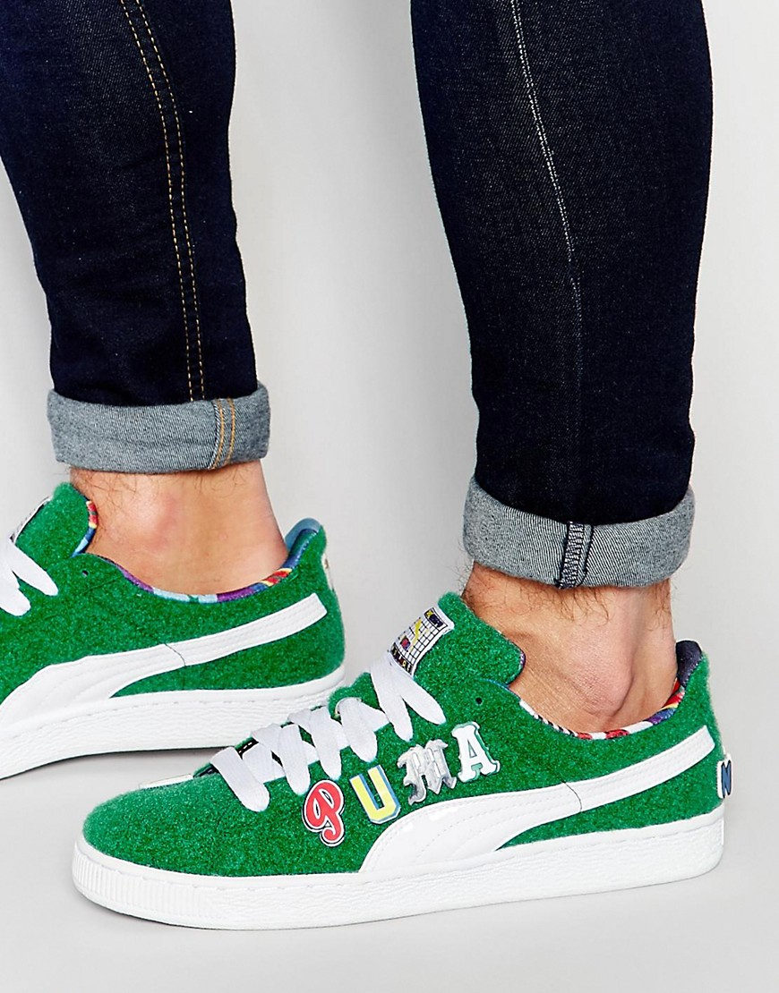 efd6f958003 Lyst - PUMA X Dee And Ricky Basket Trainers In Green 36008402 in ...