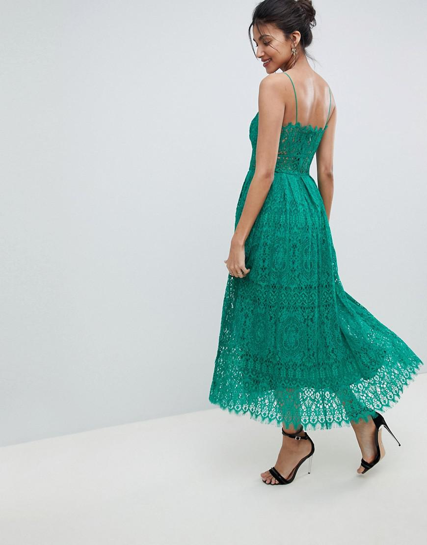 b2944ddc969 Asos Lace Cami Midi Prom Dress Green - Data Dynamic AG