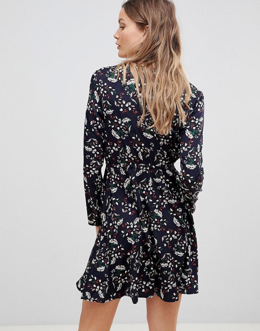 963491e6f5 Lavand Wrap Front Dress in Blue - Lyst