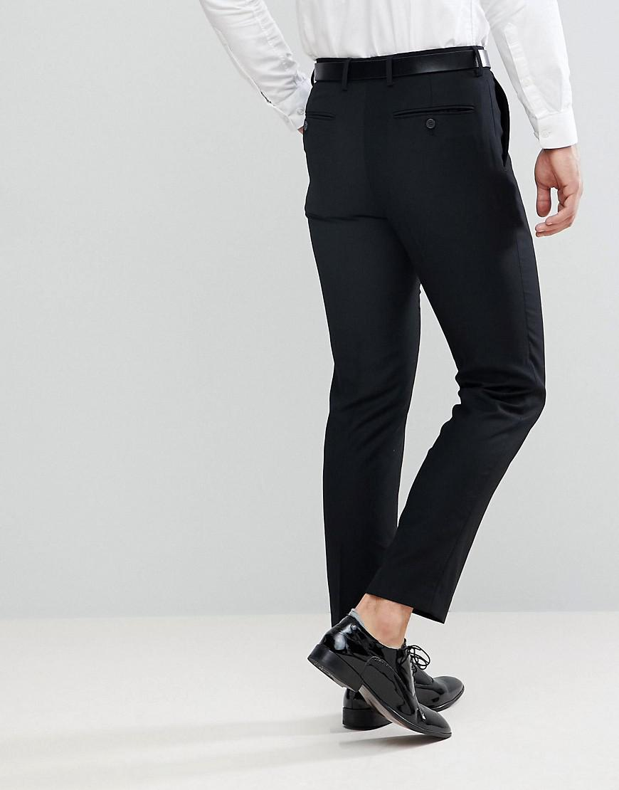 90c467f52e9a Lyst - French Connection Slim Fit Tuxedo Pants in Black for Men