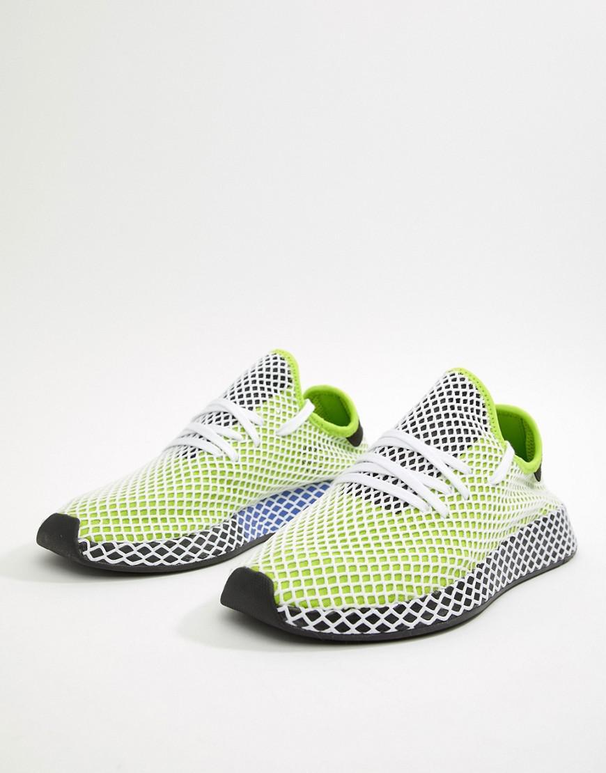 Deerupt Runner Trainers In Green B27779 - Green adidas Originals IJagOHs