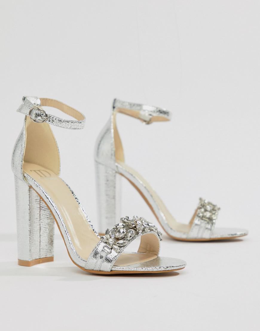 Silver Embellished Heels