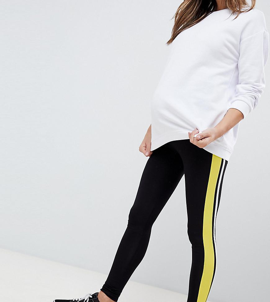 7a60511b4543a ASOS Asos Design Maternity Over The Bump leggings With Double Side ...