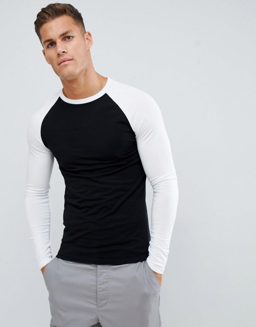 99d540f596b4 Lyst - ASOS Muscle Fit Long Sleeve T-shirt With Crew Neck With ...