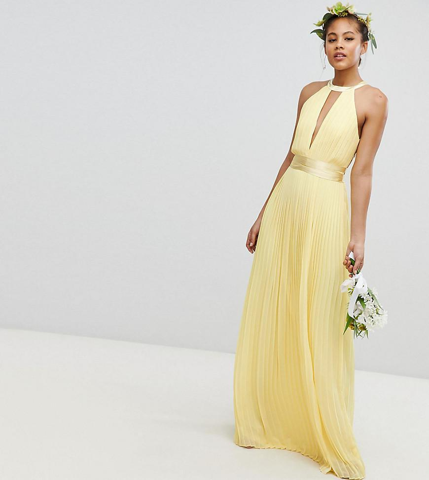 516c99b019b Tfnc High Neck Pleated Maxi Bridesmaid Dress - Data Dynamic AG