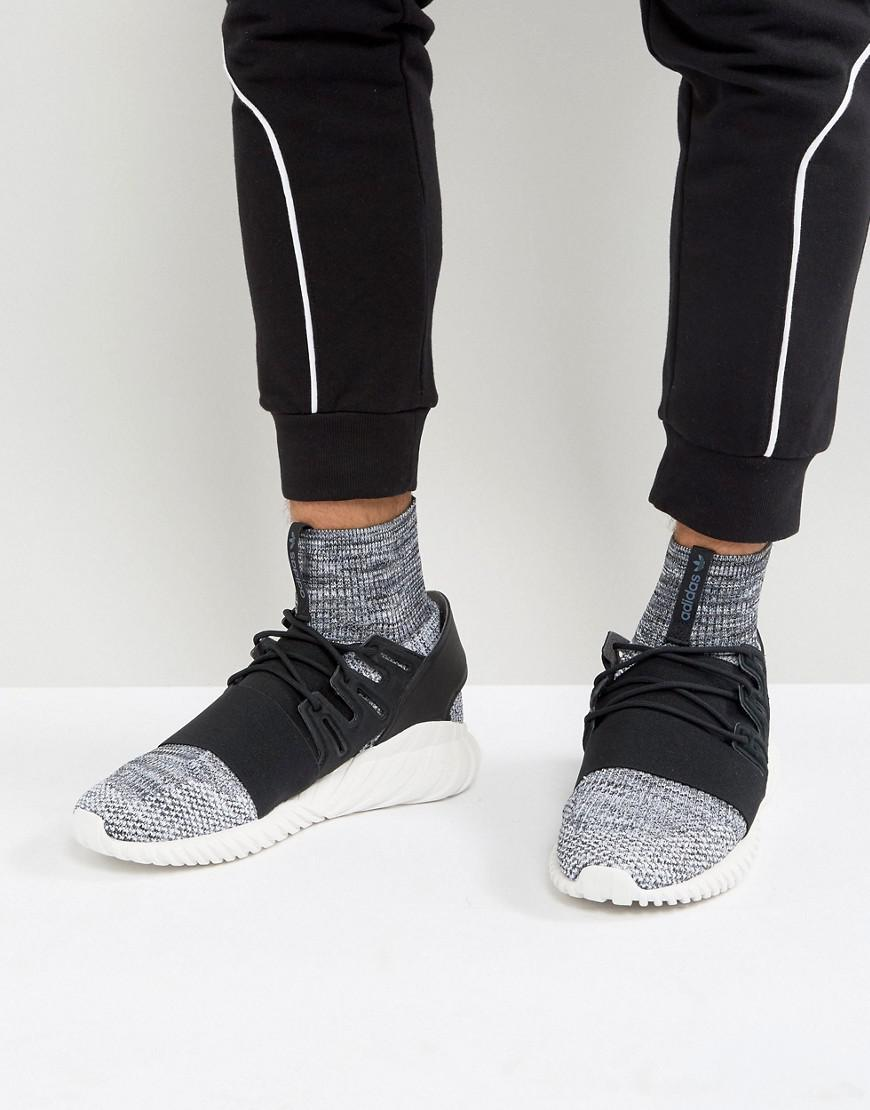 Adidas Originals Gray Tubular Doom Primeknit Sneakers In Grey By3550 for men