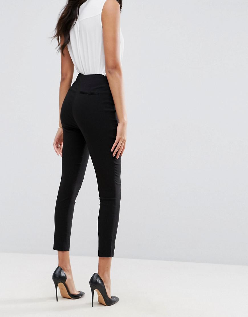 8a4a47e7510 Lyst - ASOS High Waist Trousers In Skinny Fit in Black