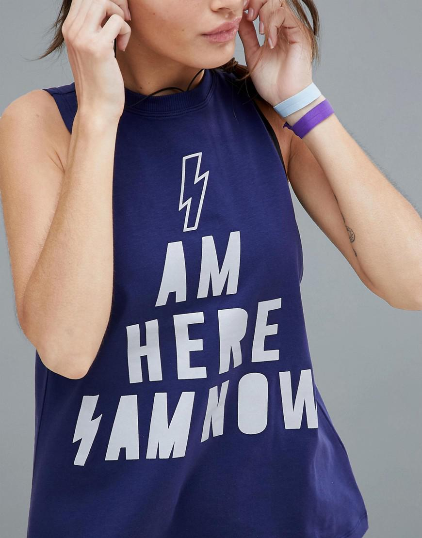 215a528fee0cde Asos 4505 Petite Reflective Running Vest With  i Am Here I Am Now ...