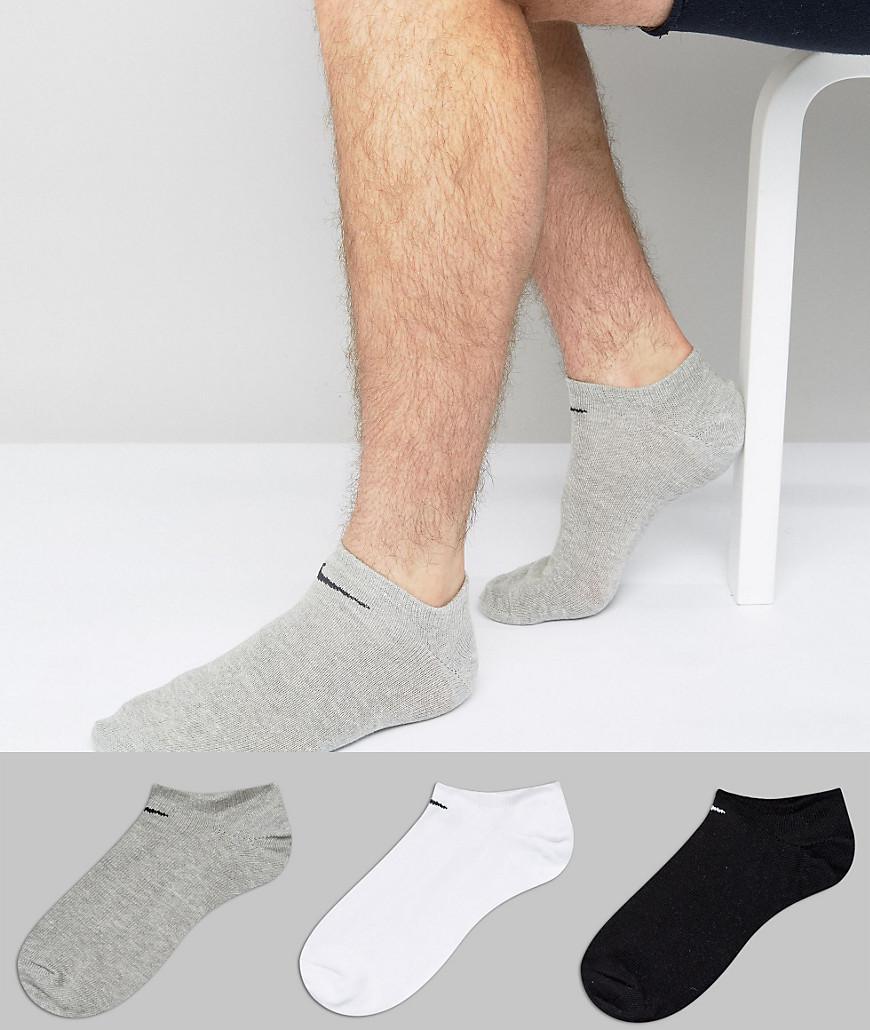 Nike Cotton 3 Pack Trainer Socks Sx2554