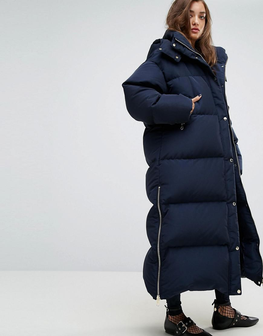 bc09c4f122c4a Lyst - Tommy Hilfiger Gigi Hadid Longline Padded Jacket in Blue