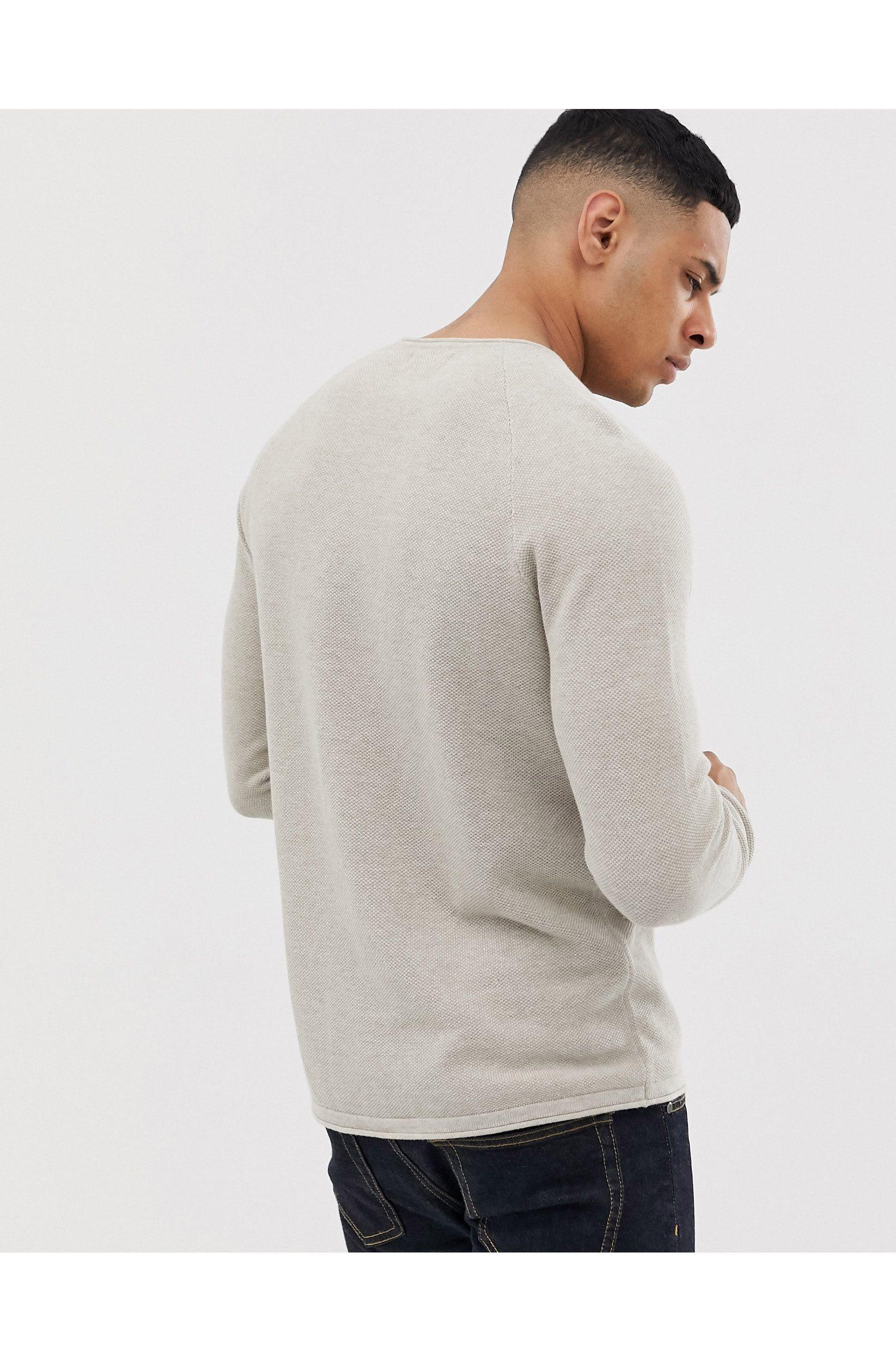 Jack and Jones Mens Half Logo Crew Sweater Jumper Pullover