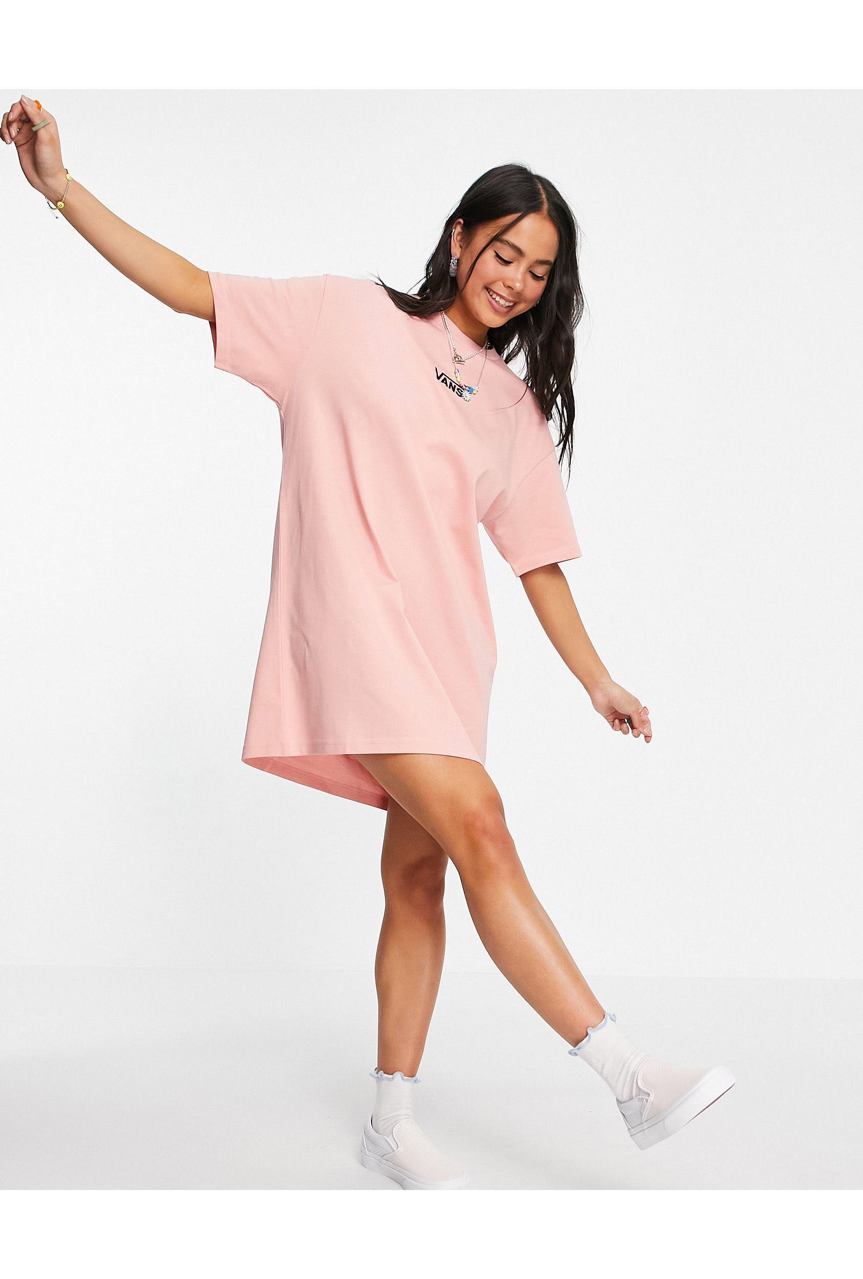 Center V - Vestito T-shirt corallo di Vans in Rosa - Lyst