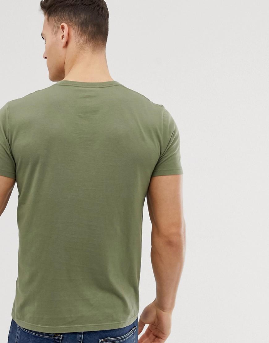 Hollister Katoen Icon - T-shirt Met Ronde Hals En Logo in het Groen voor heren