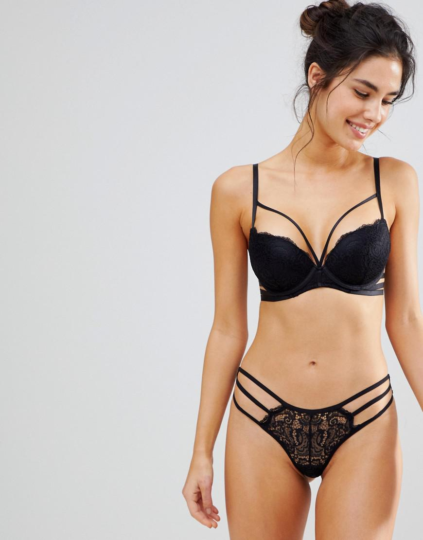 Lace Strapping Brief - Black New Look Limited Edition Online Amazing Price 2018 Sale Online High-Quality Cheap Wiki Cheap Price j4oaEqdeKH