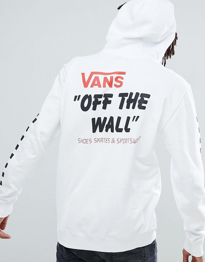 18f0b3ce3f3 Vans Heritage Hoodie With Arm Print In White in White for Men - Lyst