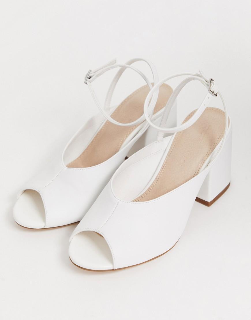 ASOS Denim Harmonica Mid Heeled Sandals