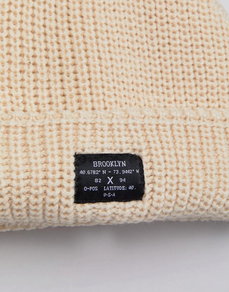 Chunky Knit Beanie In Stone - Stone New Look cghr82vgIO