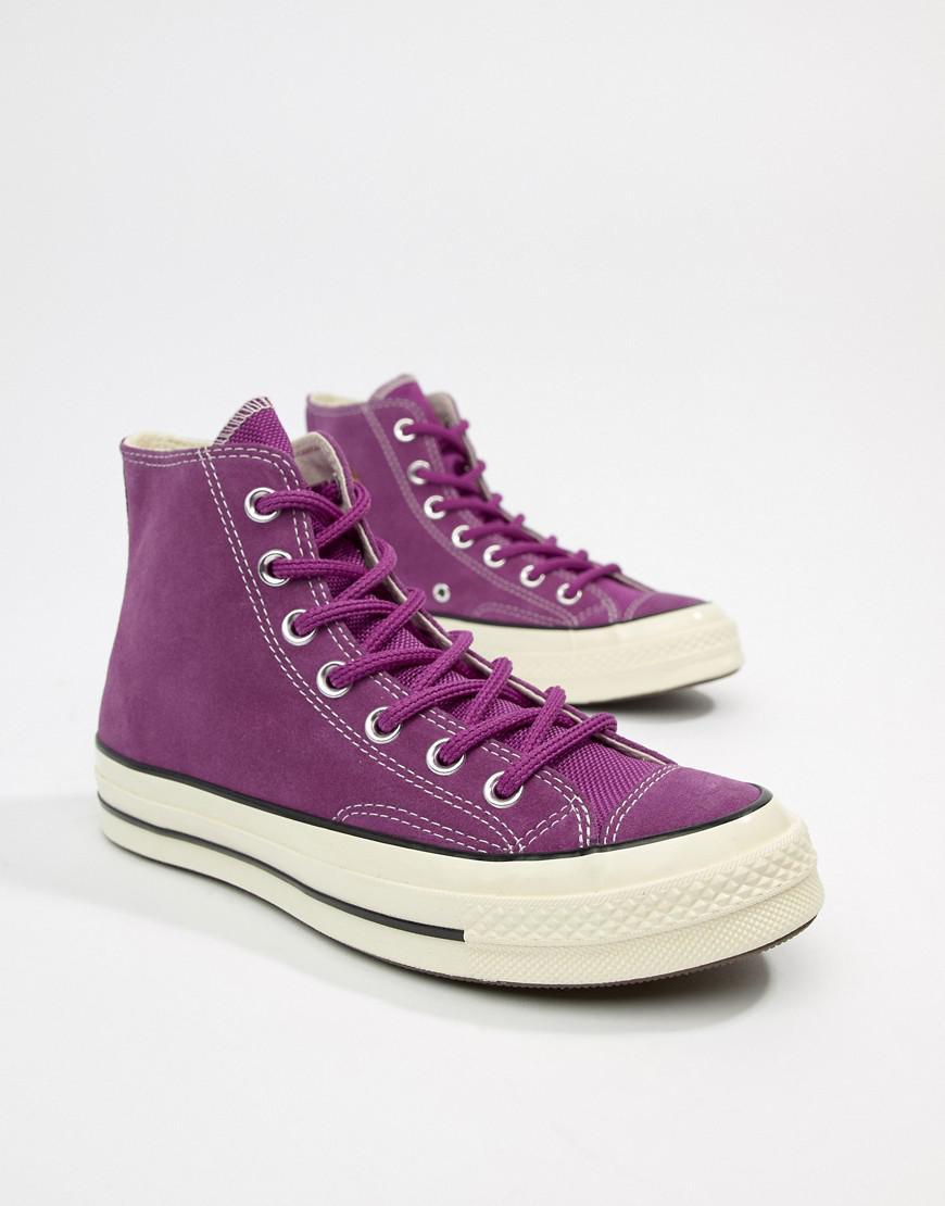 Converse Chuck 70 Base Camp Hi Suede Purple Trainers Lyst