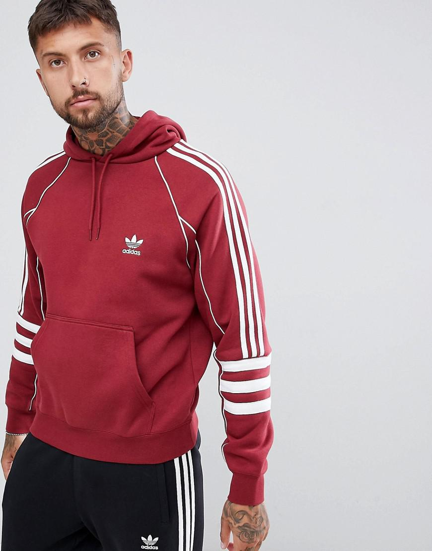 Lyst Adidas Originals Authentic Hoody In Red Dj2859 In Red For Men